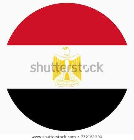 Gomb zászló Egyiptom fém keret utazás Stock fotó © MikhailMishchenko