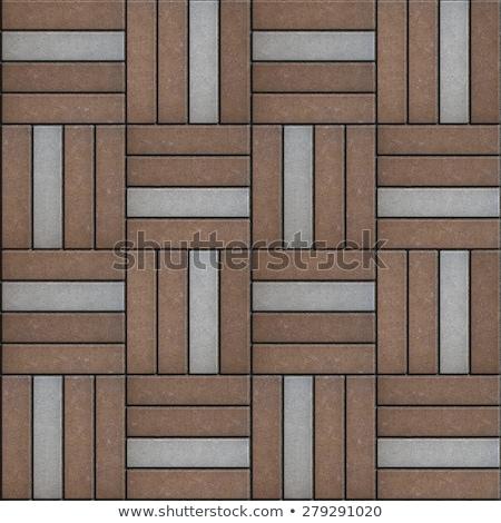 Cinza marrom retângulo forma sem costura textura Foto stock © tashatuvango