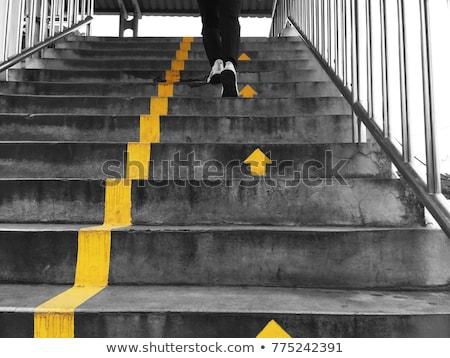 Amarelo seta enrolado lado fundo arte Foto stock © zybr78