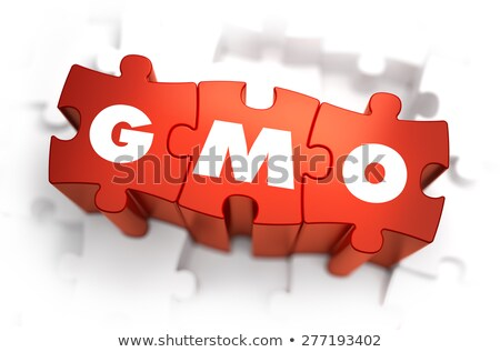 GMO - Text on Red Puzzles. Stock photo © tashatuvango