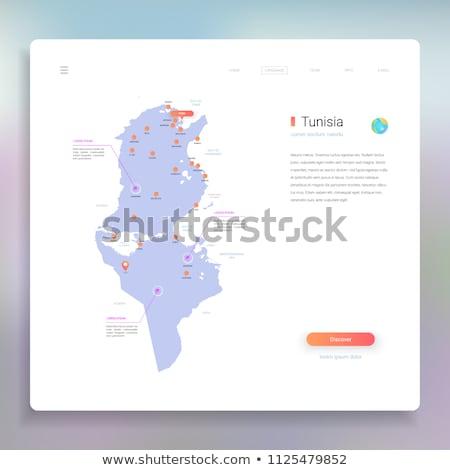 Laranja botão imagem mapas Tunis forma Foto stock © mayboro