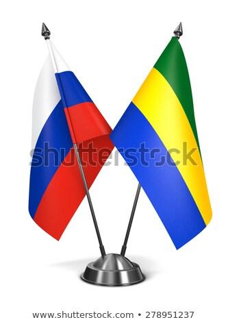 russia and gabon   miniature flags stock photo © tashatuvango