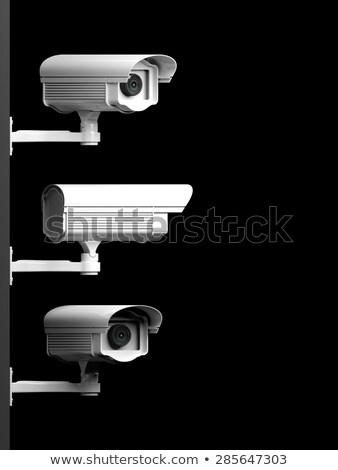 Aufsicht Videokamera Seitenansicht Metall Fall weiß Stock foto © vtls