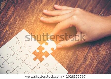 Megállapodás puzzle hely hiányzó darabok szöveg Stock fotó © tashatuvango