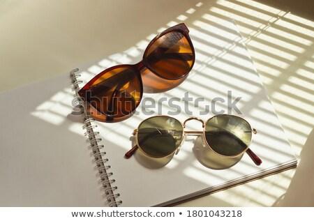 Notebook pár szemüveg felső iskola háttér Stock fotó © scenery1