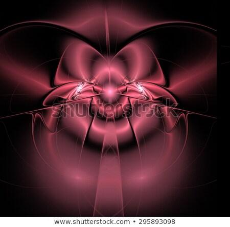 Fraktal örnek parlak pembe saten yay Stok fotoğraf © yurkina