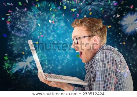 ヒップスター · ビジネスマン · 見える · ノートパソコン · オフィス · コンピュータ - ストックフォト © wavebreak_media