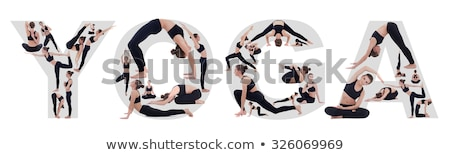 The letters in the form of gymnastic figures Stock photo © Nekiy