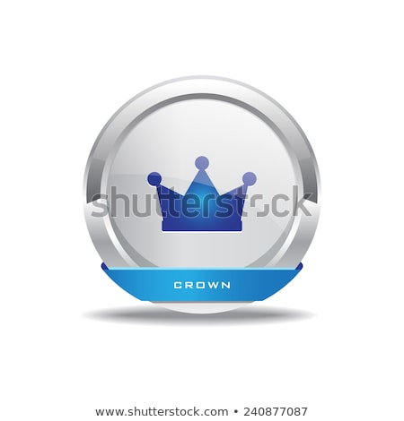 Korona körkörös vektor kék webes ikon gomb Stock fotó © rizwanali3d