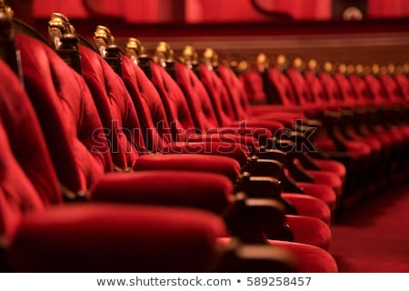 red wood chairs in auditorium Stock photo © Paha_L