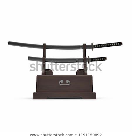 Samurai spada stand sfondo arte segno Foto d'archivio © shutswis