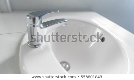 Modern stainless steel tap Stock photo © shutswis