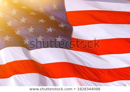 vote with shining american flag and golden stars Stock photo © marinini