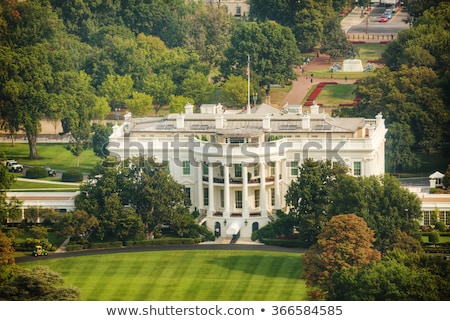 the white hiuse aerial view in washington dc stock photo © andreykr