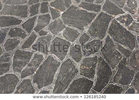 harmonic pattern of slate tiles at the floor Stock photo © meinzahn
