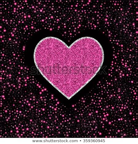 сердце розовый звездой пыли любви Сток-фото © netkov1
