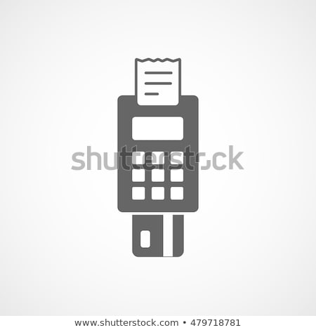 POS Terminal Icon symbol Illustration design Stock photo © kiddaikiddee