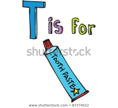 A letter T for toothbrush Stock photo © bluering