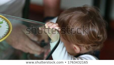 Toddler grabbing tablet stock photo © unkreatives