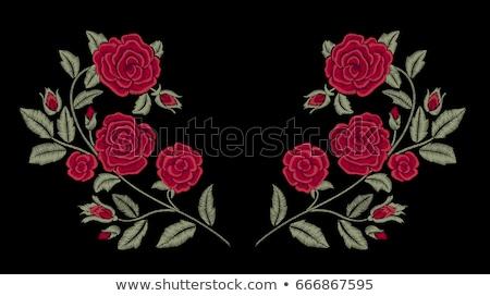 decoración · tejido · corazón · boda · resumen - foto stock © lana_m