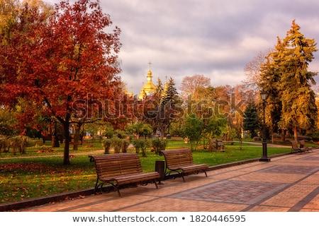 şehir · sahne · kubbe · üst · Hristiyan · ortodoks - stok fotoğraf © ssuaphoto