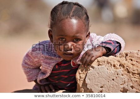 Stock photo: girl with an african plaits