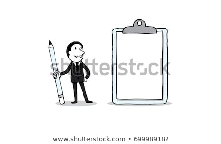 Businessman with pen and blank board Stock photo © jawa123