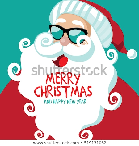 Noel · satış · afiş · vektör · neşeli · noel · baba - stok fotoğraf © beholdereye