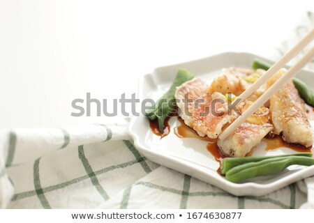 Fish and leeks  Stock photo © fanfo