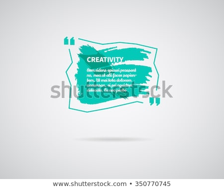 watercolor ink splash quote blank template quote bubble empty template circle business card tem stock photo © jeksongraphics