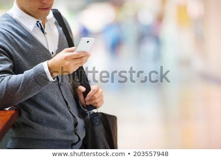 Teléfono móvil negocios conversación mujer de negocios oficina teléfono Foto stock © stevanovicigor
