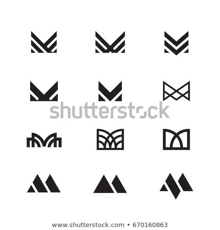 kleurrijk · abstract · logo · letter · m · business · brief - stockfoto © hypnocreative