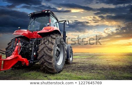 トラクター タイヤ 写真 若い女性 訓練 ストックフォト © sumners