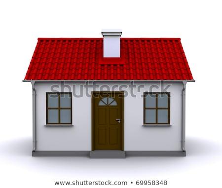 klein · huis · euro · bankbiljetten · bestand - stockfoto © imaster