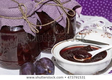 Plum compote in jar Stock photo © Digifoodstock