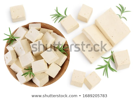 block of fresh soybean curd Stock photo © Digifoodstock