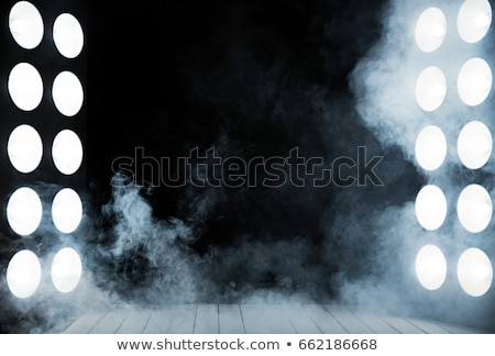 Sötét belső fából készült színpad kettő erőteljes Stock fotó © majdansky