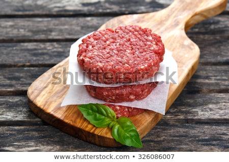 Stock photo: raw hamburger patties