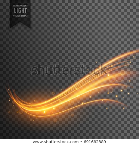 stylish transparent light effect in wavy shape with trail and sp Stock photo © SArts
