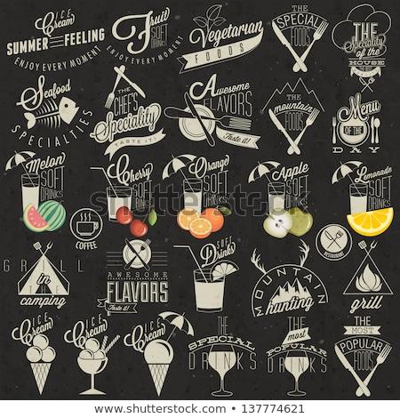 Set of vintage styled restaurant menu.  Stock photo © Mamziolzi