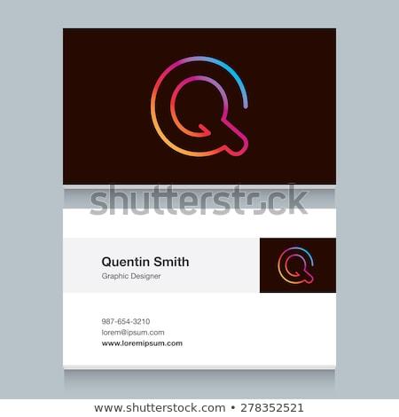 letter Q label logo design for your brand Stock photo © SArts