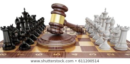 Legal ação judicial batalha dois justiça balança Foto stock © Lightsource