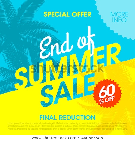 summer sale banner with sun stock photo © barbaliss