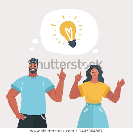 Woman having business idea vector illustration. Stock photo © RAStudio