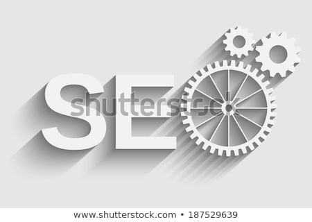 Software Optimization - Mechanism of Metallic Gears . 3D . Stock photo © tashatuvango