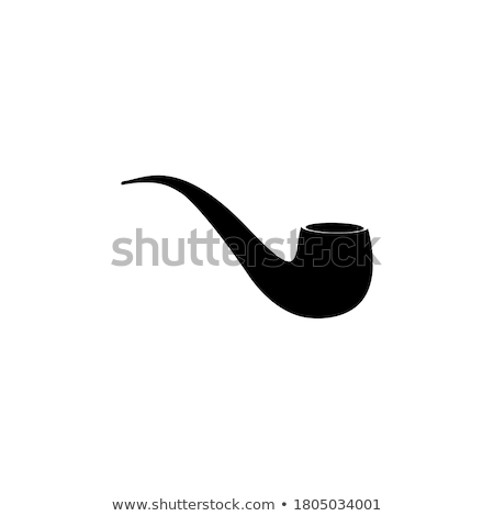 Pipe fumeur icône vecteur style graphique Photo stock © ahasoft