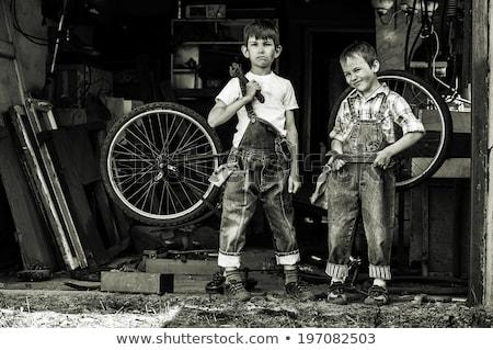 Boy dressed as repair man Stock photo © IS2