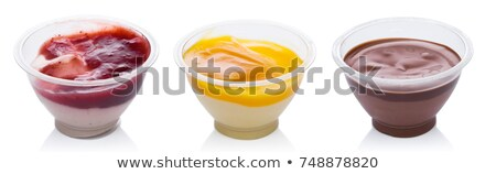 mango strawberry and chocolate yogurt dessert stock photo © denismart