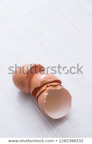Stack of  halves from crashed eggs Stock photo © Cipariss