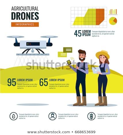 Stock fotó: Digital Vector Flying Internet Of Things Concept